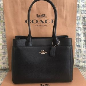 🔥NWT COACH Black Casey Leather Tote -Final Price